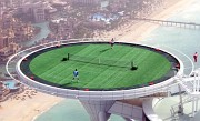 Burj Al Arab tennis court and helipad