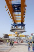 Dubai Metro elevated track construction