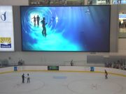 Dubai Mall Ice Rink and giant TV screen (Ice skating rink Dubai Mall)